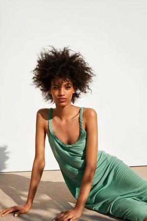 Zara Sukienka na ramiączkach z plecionki