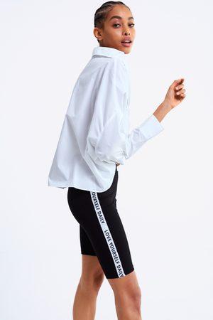 Zara Slogan taped leggings