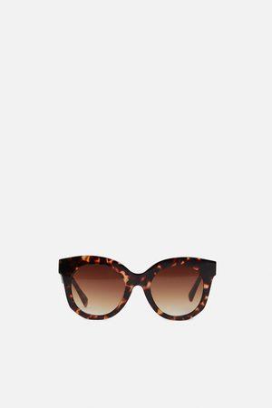 Zara Okulary przeciwsłoneczne w oprawce z tworzywa premium quality