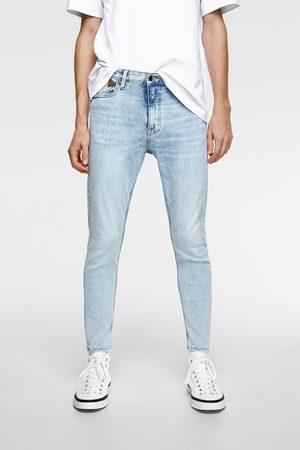 Zara Spodnie jeansowe rurki o wygodnym kroju