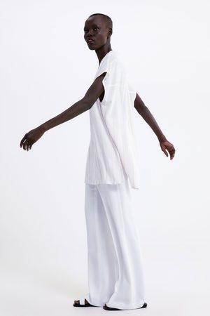Zara Tunika w stylu rustykalnym w paski