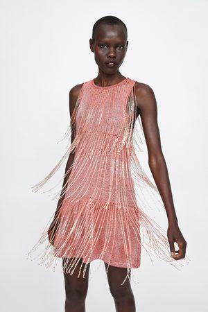 Zara Sukienka z frędzlami z limitowanej edycji
