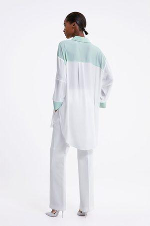Zara Koszula oversize z barwnymi wstawkami
