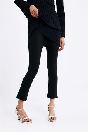 Zara Spodnie z lekko rozszerzanymi nogawkami