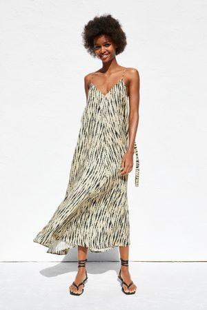 Zara Kobieta Sukienki - Sukienka farbowana metodą tie dye