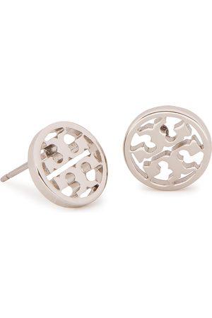 Tory Burch Kolczyki - Logo Circle Stud Earring 11165518 Tory Silver 022