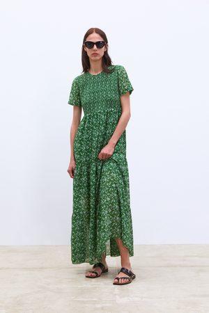 Zara Sukienka z nadrukiem w kwiaty
