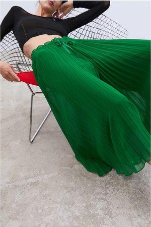 Zara Plisowane spodnie typu culotte