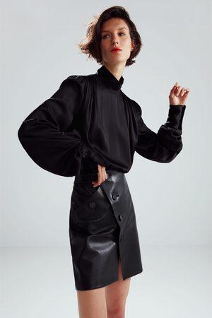 Zara Skórzana spódnica mini z limitowanej edycji