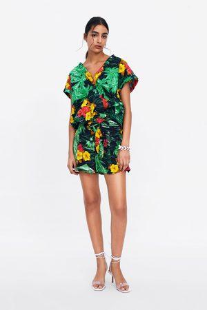Zara Bermudy z nadrukiem w kwiaty