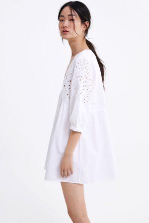 86373d229a Zara Sukienka mini z haftem
