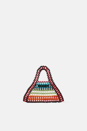 Zara Mini torebka typu shopper z koralików