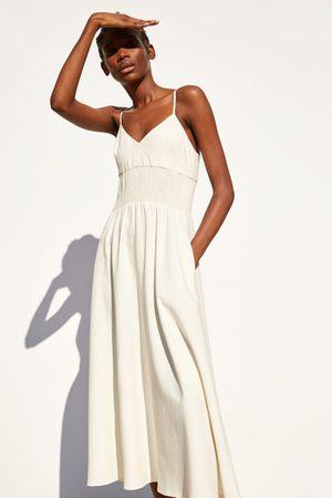 Zara Kobieta Sukienki - Sukienka w stylu rustykalnym