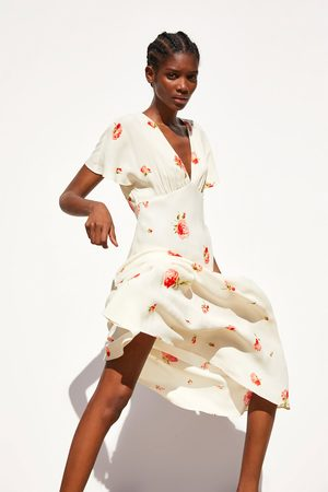 Zara Kobieta Sukienki z nadrukiem - Sukienka z nadrukiem