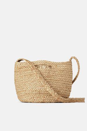 Zara Kobieta Torby shopper - Torba typu koszyk z naturalnej jutowej plecionki