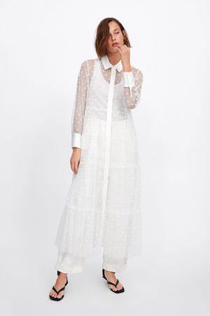 Zara Sukienka tiulowa w kropki