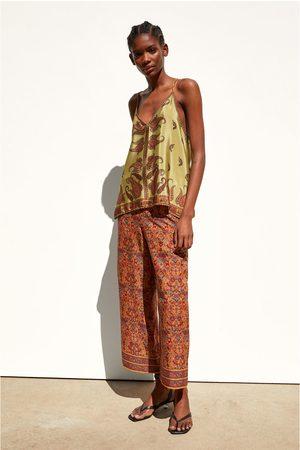 Zara Spodnie z nadrukiem