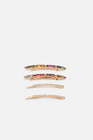 Zara Komplet spinek z biżuteryjnym zdobieniem