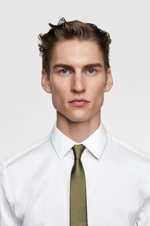 Zara Wąski krawat z tkaniny strukturalnej