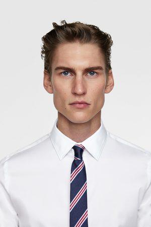 Zara Wąski krawat w paski
