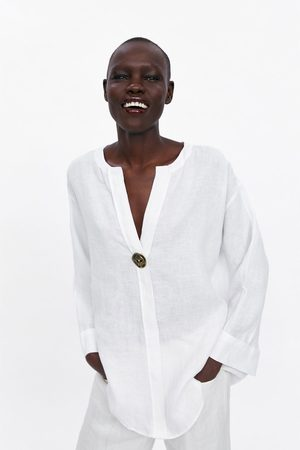 Zara Lniana koszula oversize