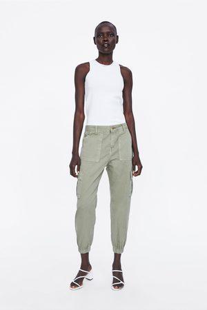 Zara Spodnie typu cargo