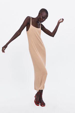 Zara Dzianinowa sukienka na ramiączkach
