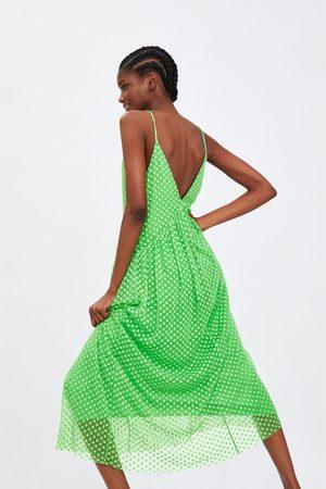 Zara Sukienka tiulowa z tkaniny plumeti