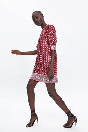 Zara żakardowa sukienka mini