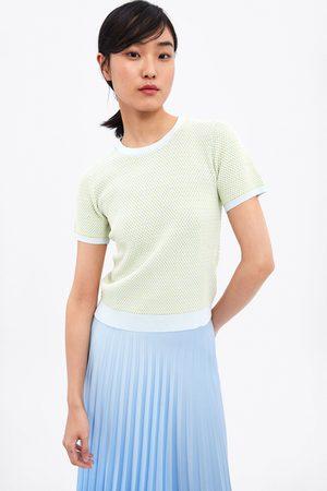 Zara Sweter z dwubarwnej dzianiny
