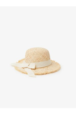 Zara Słomkowy kapelusz z wystrzępieniami