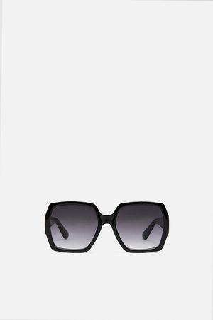 Zara Okulary w kwadratowej oprawce z tworzywa