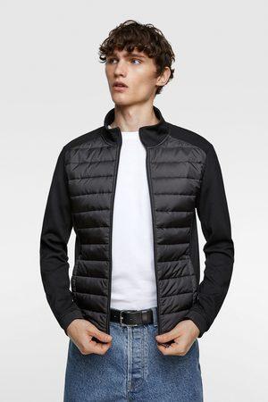 Zara Pikowana kurtka ze wstawkami z łączonych tkanin