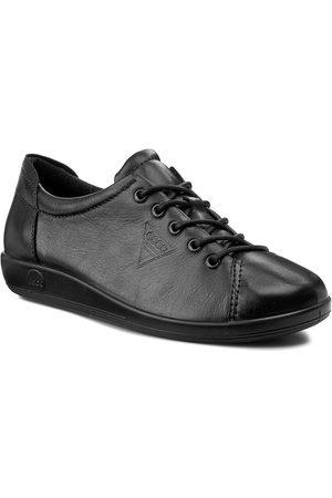 Ecco Półbuty - Soft 2.0 20650356723 Black With Black Sole