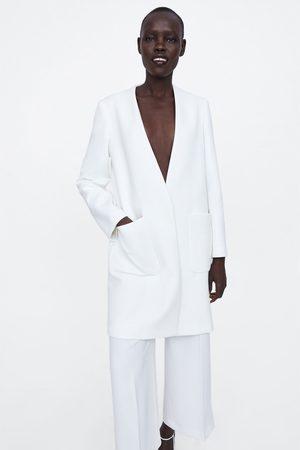 Zara Płaszcz z kieszeniami