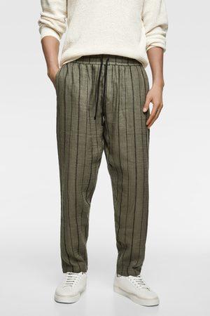 Zara Spodnie joggery w paski