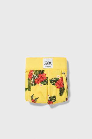 Zara Bokserki bieliźniane w kwiaty
