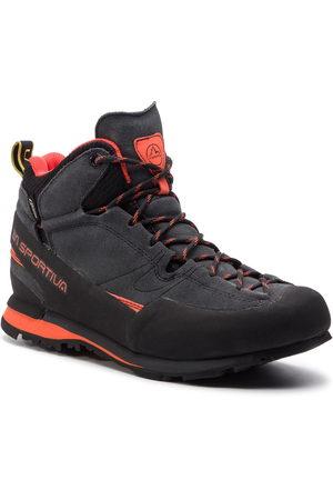 La Sportiva Mężczyzna Buty trekkingowe - Trekkingi - Boulder X Mid 17E900304 GORE-TEX Carbon/Flame