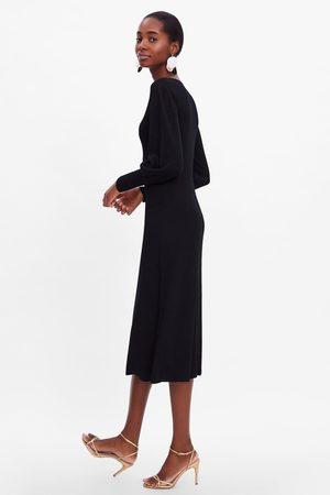Zara Sandały na obcasie z cienkimi paskami