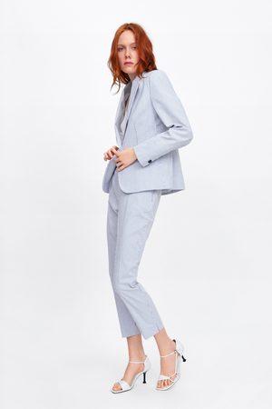 Zara Spodnie cygaretki w paski