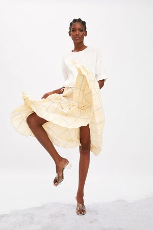 Zara Plisowana spódnica w kratę