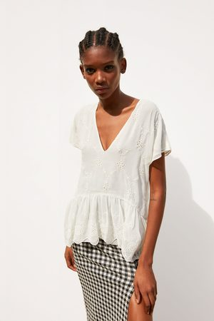 Zara Shirt with cutwork embroidery