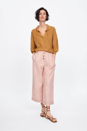 Zara Spodnie typu culotte z guzikami