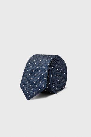 Zara Wąski krawat w kropki