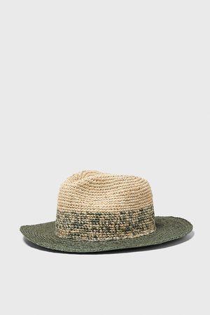 Zara Dwubarwny kapelusz z tkaniny strukturalnej