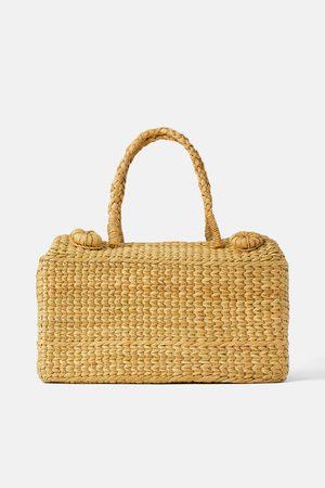 Zara Torba w stylu koszyka piknikowego z naturalnych materiałów