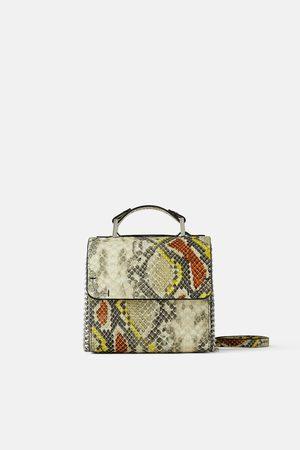 Zara Kobieta Torebki - Torebka typu kuferek w zwierzęcy deseń