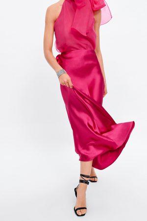 Zara Spódnica z tkaniny satynowanej