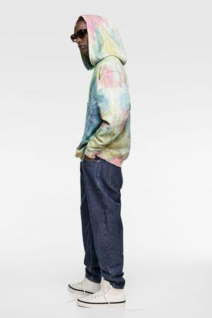 Zara Bluza jeansowa farbowana metodą tie dye