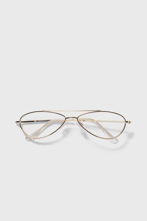Zara Okulary w owalnej metalowej oprawce